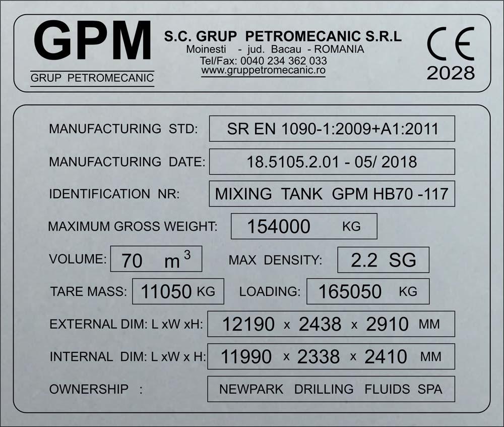 gravura aluminiu (gpm)
